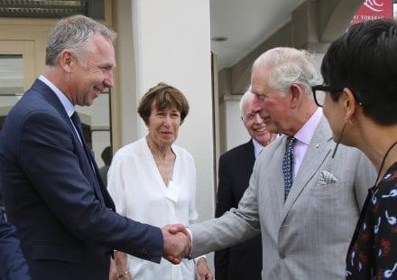 Charlie meets Prince Charles